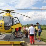 Látogatókat fogadott a légimentő bázis