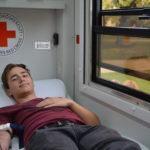 A kamion sofőr természetesen  a kamionban ad vért…