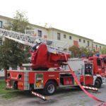 A katonák közös gyakorlata a tűzoltókkal