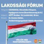 Nemzeti konzultációs lakossági fórum Csongrádon