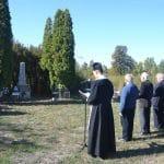 Koszorúzás a Bánomháti temetőben