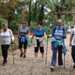 Gyors-gyaloglás és közös funkcionális tréning a ligetben