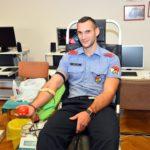 A tűzoltóknak és a rendőröknek szerveztek véradást