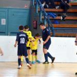 Palánkos focitornák a szentesi sportcsarnokban