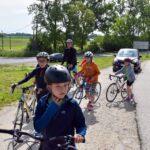 Kerékpárverseny a gáton